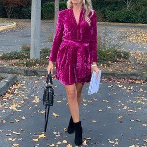 A.L.C Kiera Velvet Dress 8